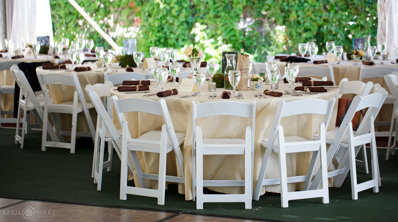 Wedding Reception Decor by The Main Event Jill Waldman in Steamboat Springs Colorado