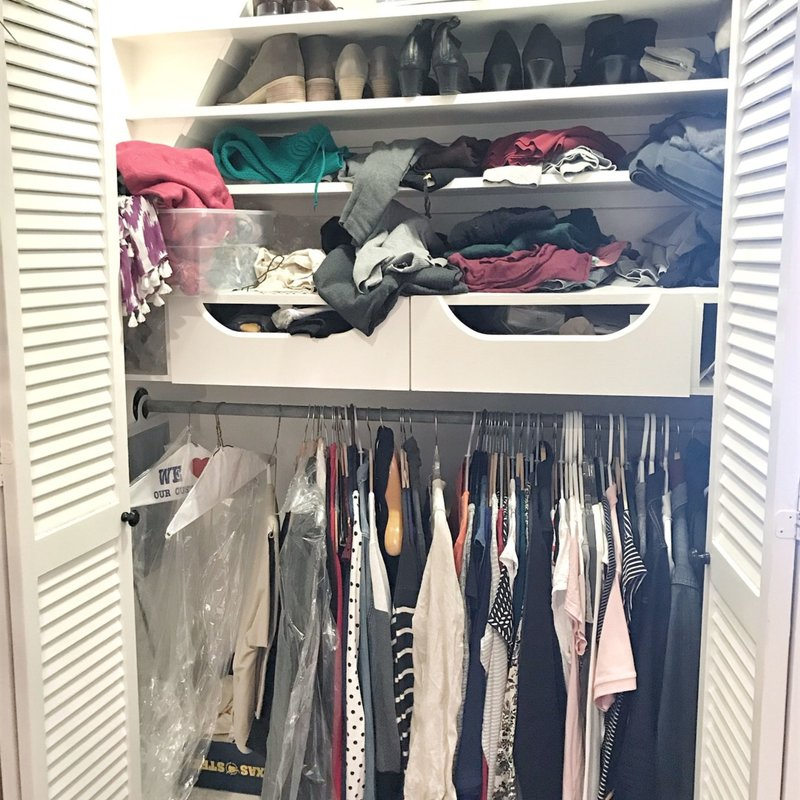 Professional Closet Organization Before Photo