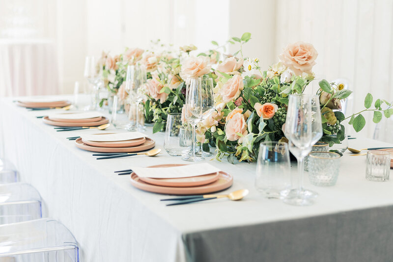 wedding tablescape in hudson valley