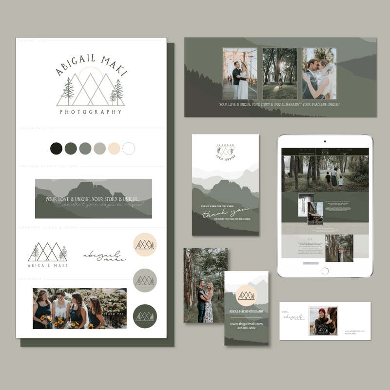 Brand and Showit Website Design for Abigail Maki Photography