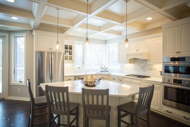 kitchen remodeling coffered cieling