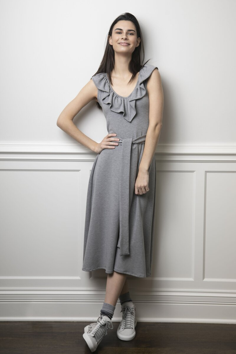 The Peggy Dress Gray Fleece01