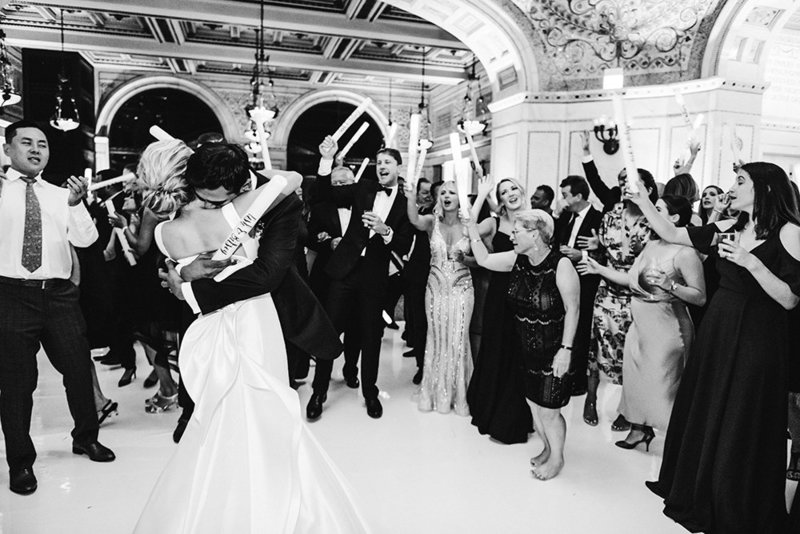 Dancing reception photo at Chicago Cultural Center wedding.