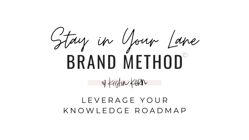 SIYL Brand Method - Kristin Korn - 2