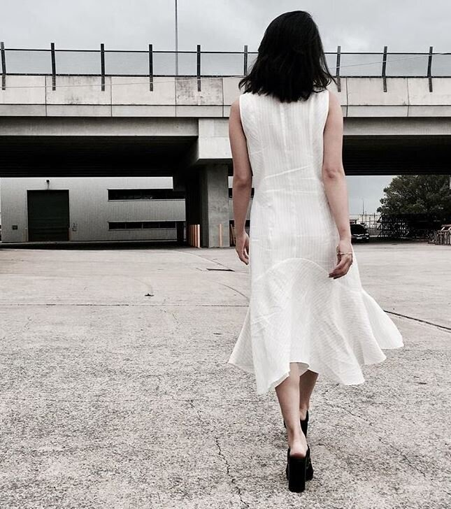VERONIKA  MAINE WHITE DRESS STYLED BY ONE AVENUE
