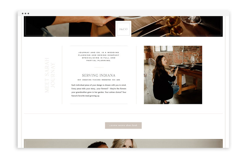 Journay and Co - Formerly Blush Events - Custom Brand and Showit Web Design by With Grace and Gold - Showit Theme, Showit Themes, Showit Template, Showit Templates, Showit Design, Showit Designer - 1