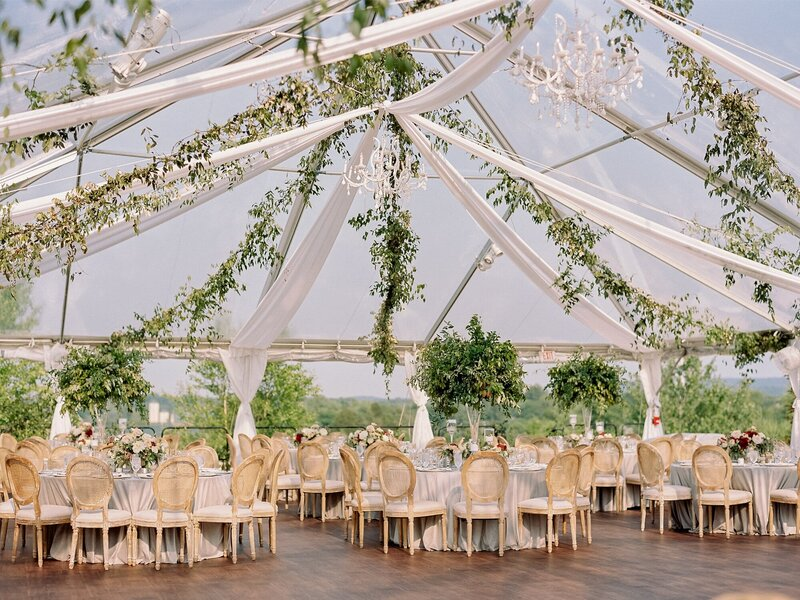 Clear Top Tent at Salamander Resort at Middleburg, Virginia Wedding