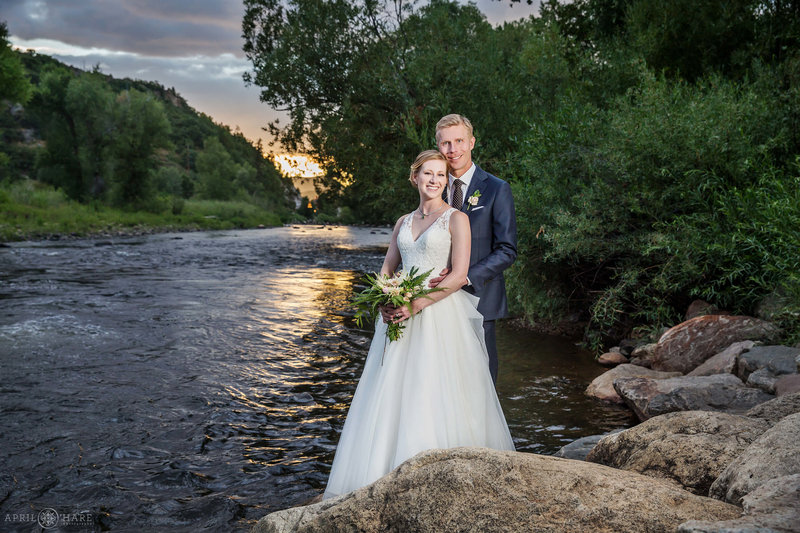 Yampa-River-Steamboat-Springs-Colorado-Wedding-Portrait-at-Sunset-Aurum-Restaurant