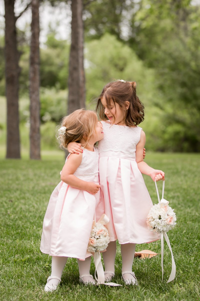 Flower girls with florals
