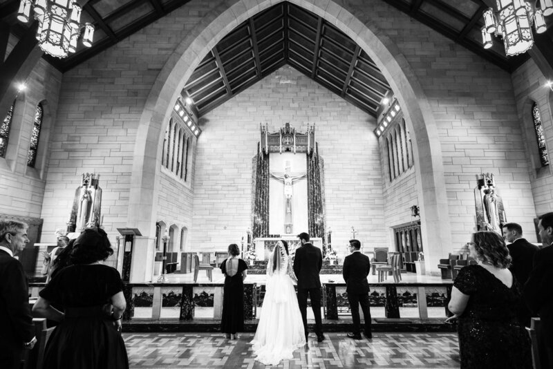 Black and White Church Ceremony in Philadelphia