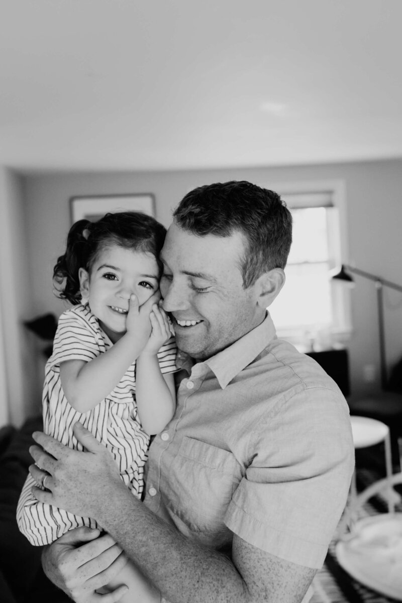 boston family lifestyle  Photographer  dad holding daugher-1