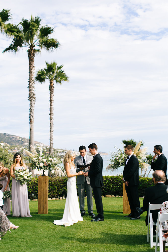wedding ceremony on the beach at montage resort and spa in laguna beach ca