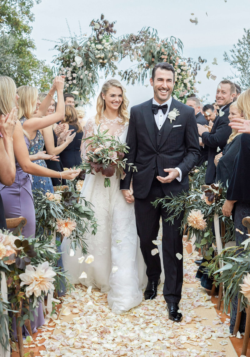 23-KTMerry-weddings-Kate-Upton-Justin-Verlander-recessional