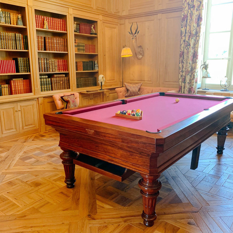 Pool table at the games room at Chateau d'Estoublon