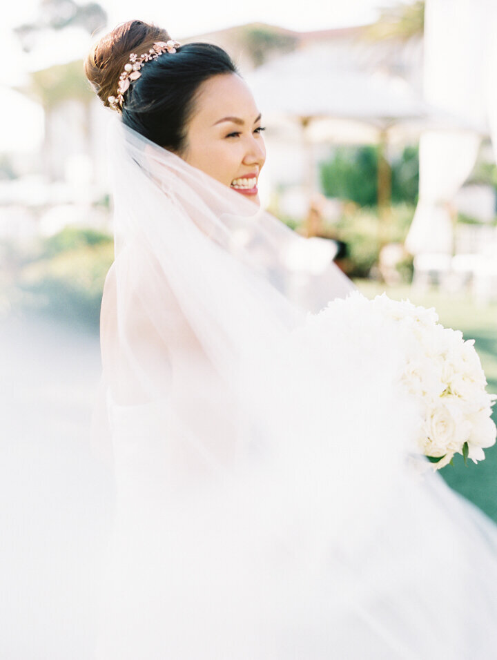 a bride at monarch beach wedding