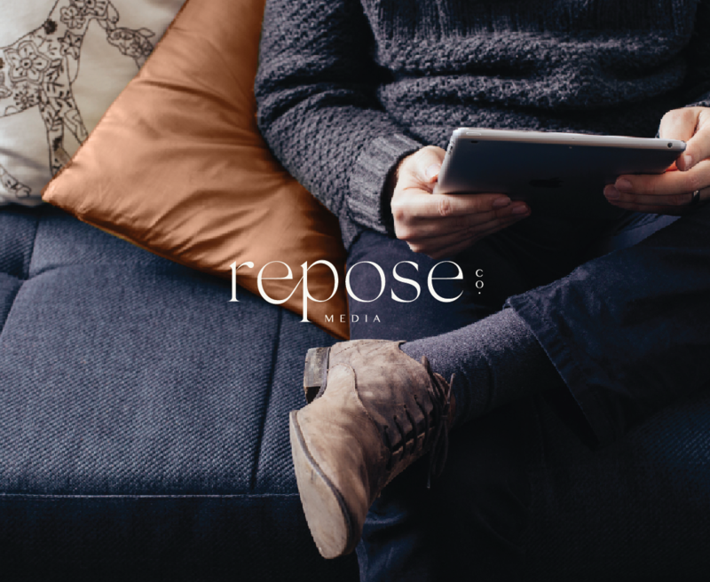 Primary Logo Design for Repose Co. Media