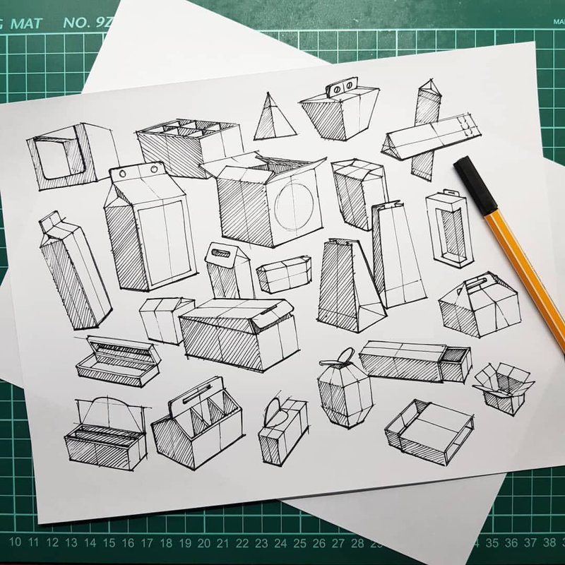 Influential Design Packaging Sketches