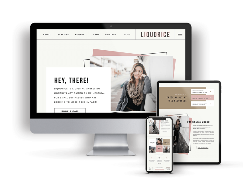 Liquorice is a Showit Website Template for Service-based Businesses