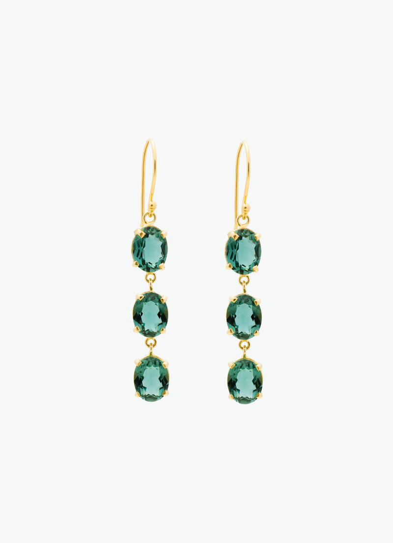 COVET HANDMADE_MAGOT GREEN QUARTZ GOLD