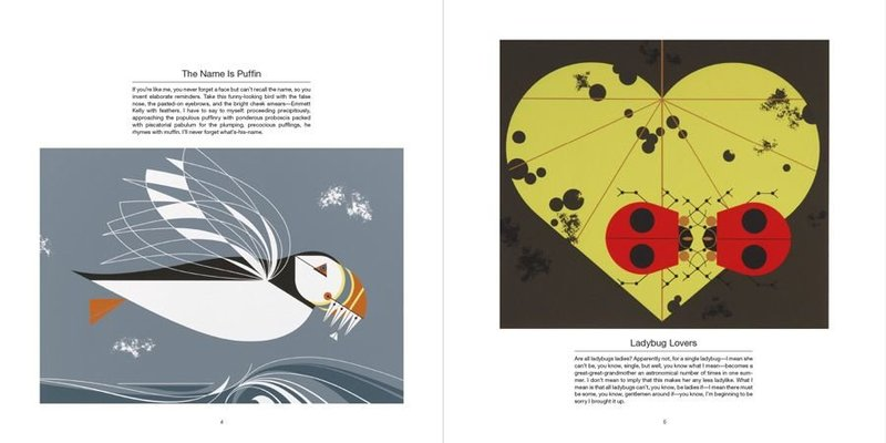 A page from Beguiled by the Wild the Art of Charley Harper