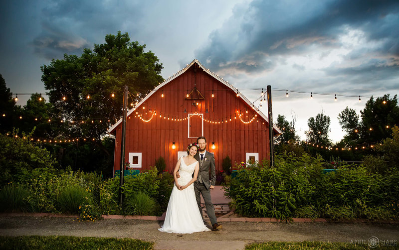Beautiful Sunset Wedding photography at Chatfield Farms in Denver