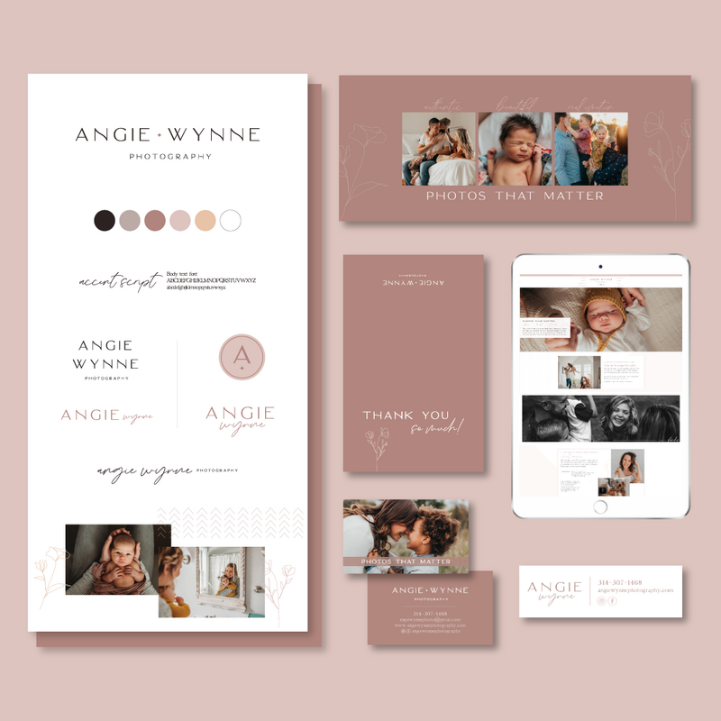 Brand and Showit Website Design for Angie Wynne Photography