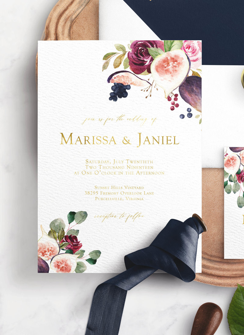 floral _fruit_wedding_invitation