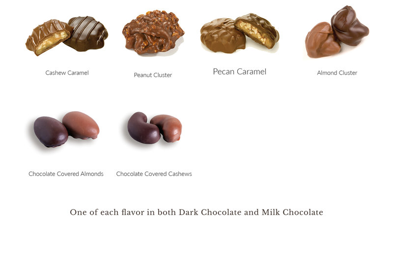 What's In the Box 12pc Dark and Milk Nut