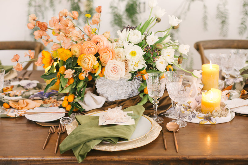 Table setting at Santa Barbara wedding