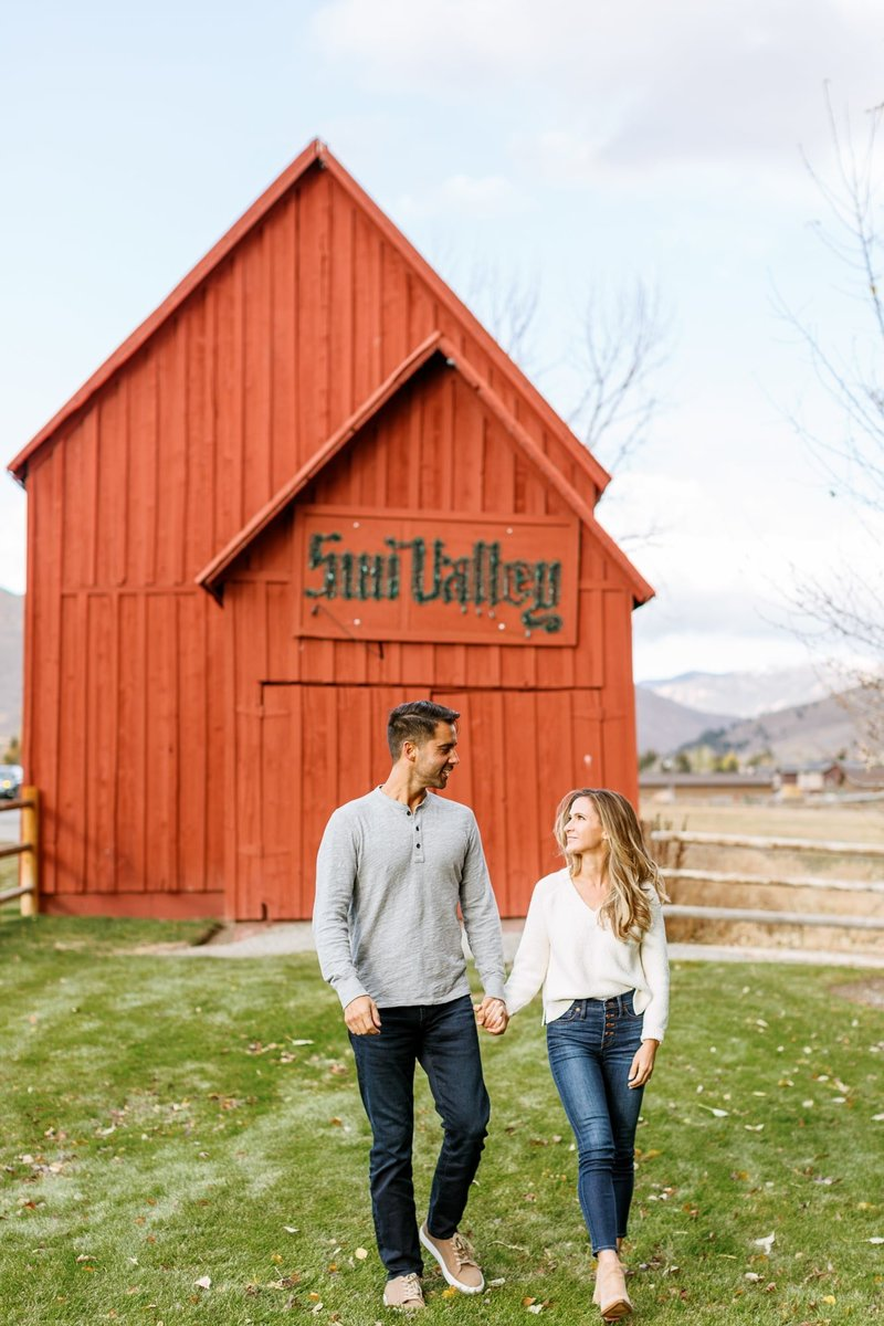 sun valley red barn -1