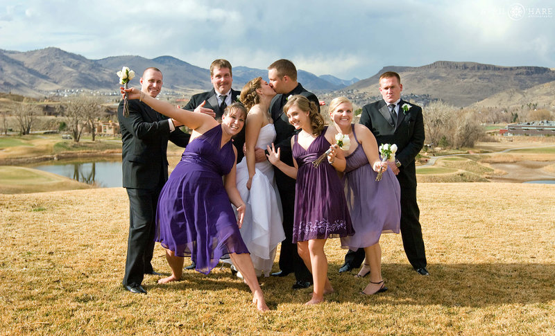 Silly-Wedding-Photography-at-Fossil-Trace-Golf-Club-in-Golden-Colorado