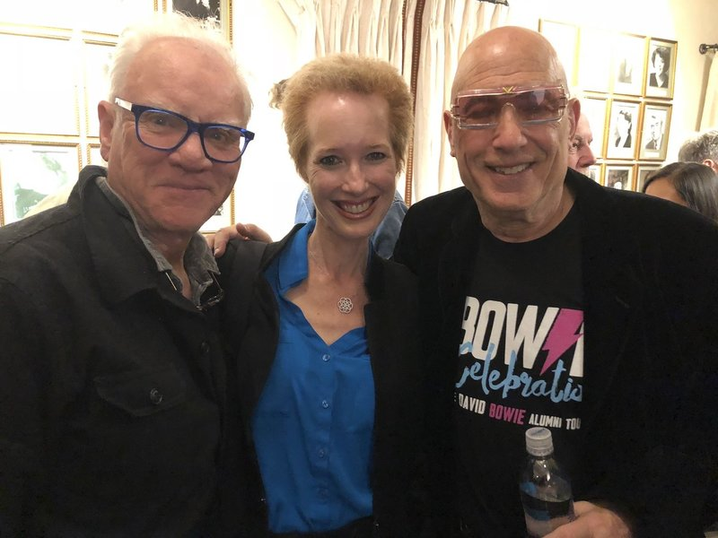Malcolm McDowell, Kate & Mike Garson 2019