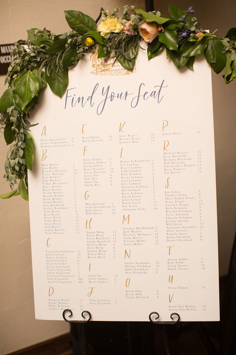 pirouettepaper.com | Wedding Stationery, Signage and Invitations | Pirouette Paper Company | Seating Charts 82