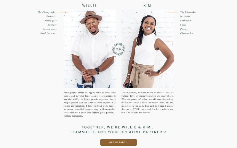 Handcrafting Heartfelt Brand & Website Designs for Female Creatives |  Showit | Showit Templates | by Viva la Violet | Willie & Kim