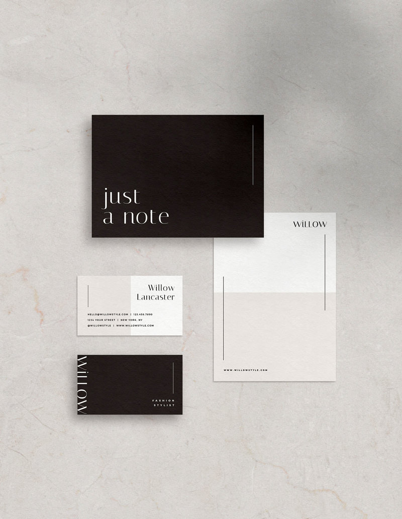 Easy to edit, customizable and stylish stationery templates for Canva and PHotoshop
