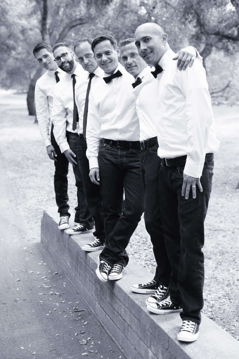 groomsmen, black and white groomsmen