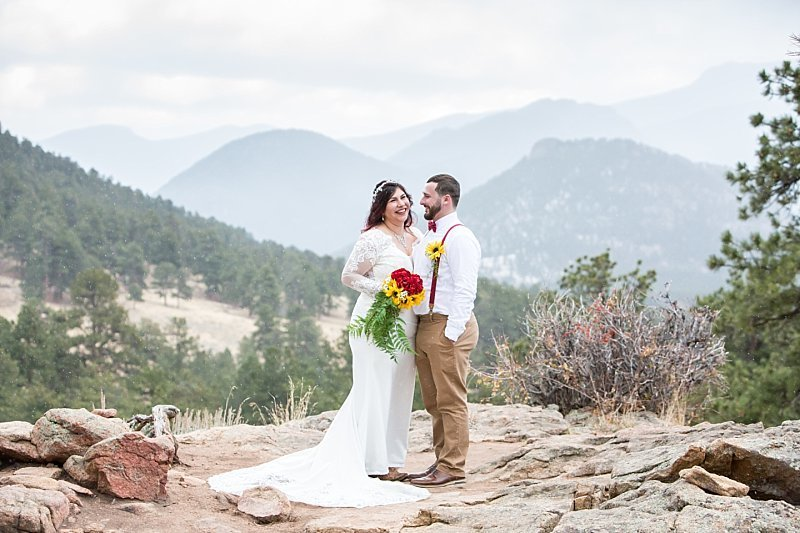 mountain elopement in Rocky Mountain National Park Colorado