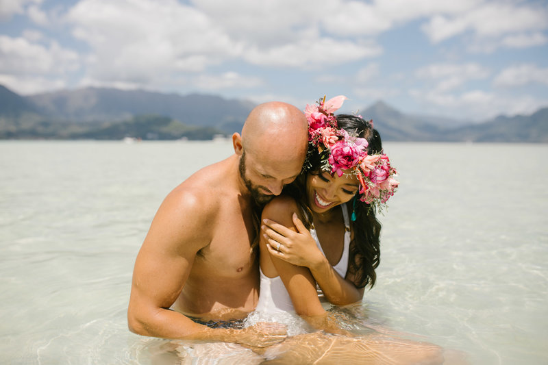 Kaneohe Sand Bar Elopement Hawaii4