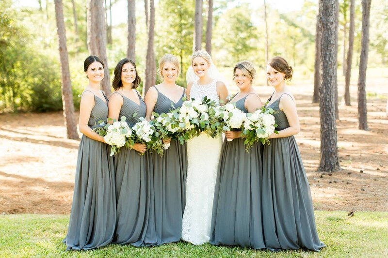 gray bridesmaids dresses for a fall wedding