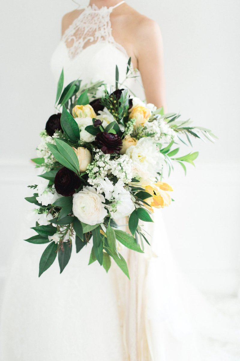 Wedding Bouquet with Greenery and flowers
