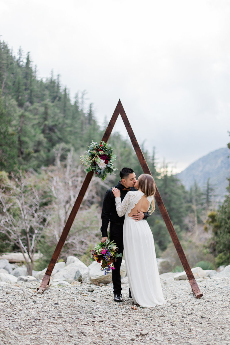 Mt. Baldy Elopement, Wildflower Bouquet, Mt. Baldy Styled Shoot, Mt. Baldy Wedding, Forest Elopement, Forest Wedding, Boho Wedding, Boho Elopement, Mt. Baldy Boho, Forest Boho, Woodland Boho S&W-33