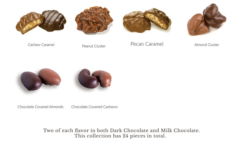 What's In the Box 24pc Dark and Milk Nut
