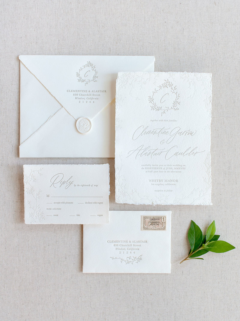 Semi-Custom Invitation Collection - Cascading Beauty 4-Piece Suite
