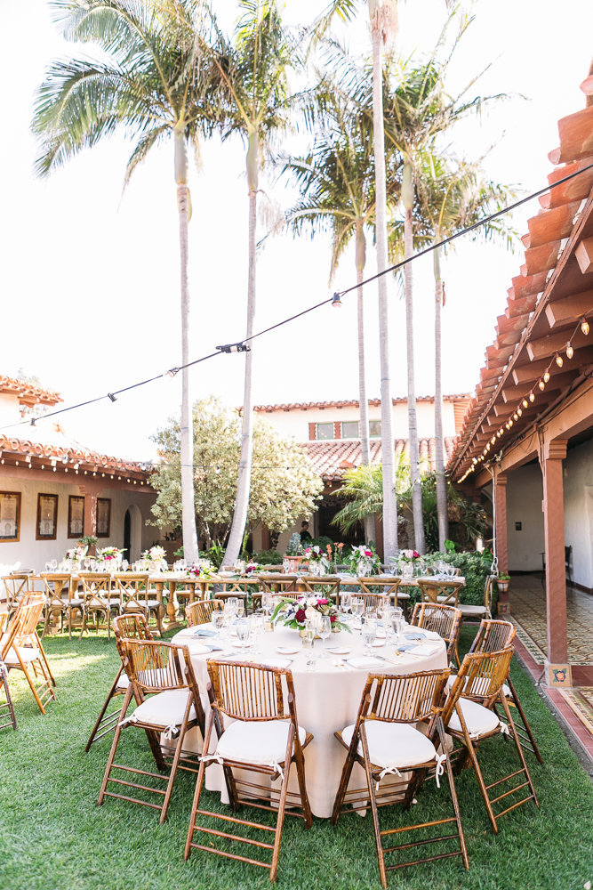 wedding reception at casa romantica