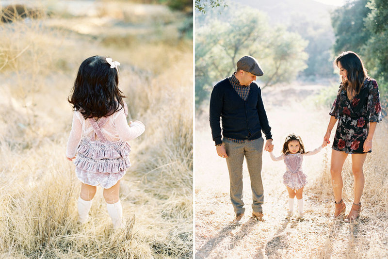 Medium format film image of a family portrait session