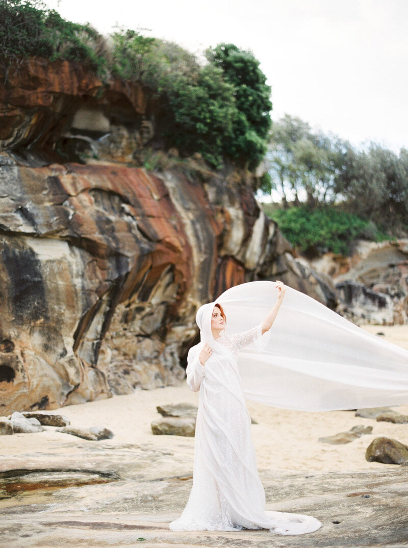 Sydney Fine Art Film Wedding Photographer Sheri McMahon - Sydney NSW Australia Beach Wedding Inspiration-00049