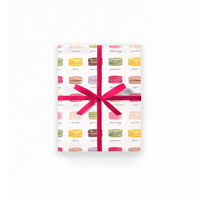 gift box wrap macarons mockup low res