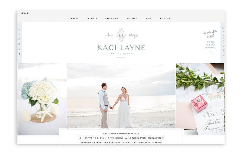Kaci Layne Photography - Brand, Stationery, and Showit Web Design for Florida Photographer - With Grace and Gold - 21