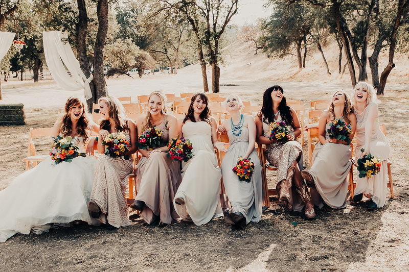fun bridesmaid photo