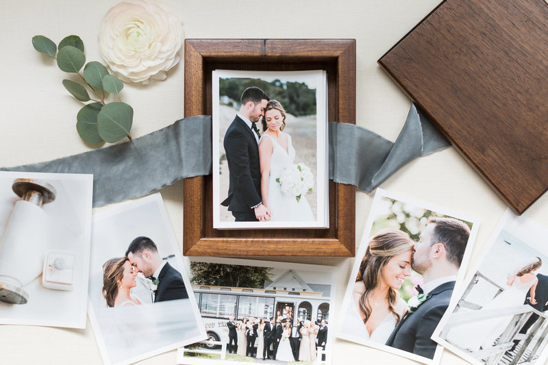 fine art photos in wooden keepsake box